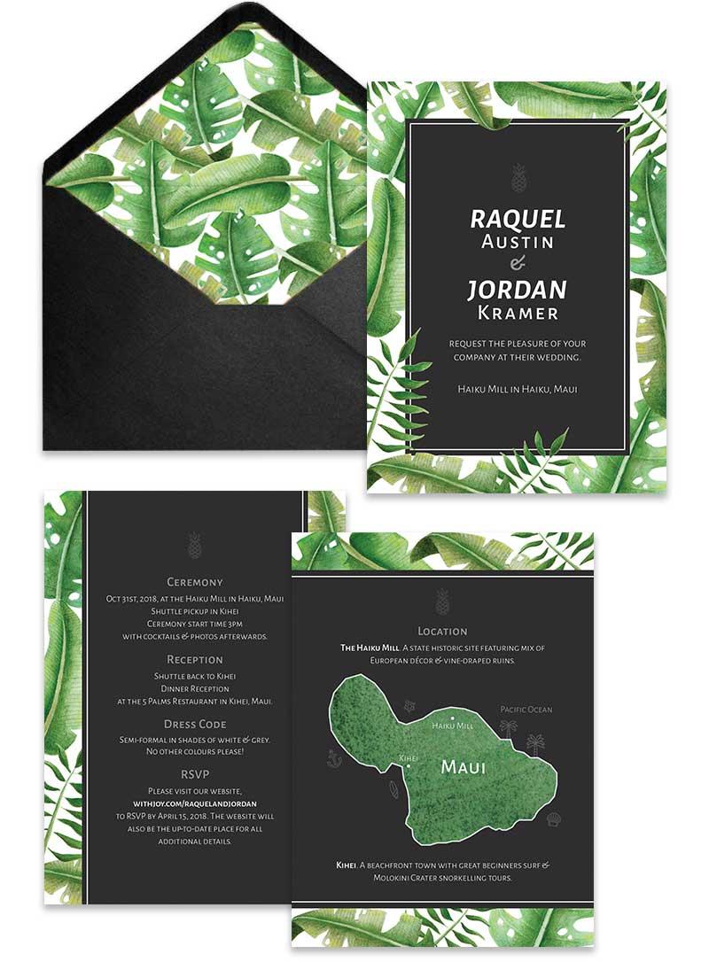 Custom wedding invitation and stationary design Calgary