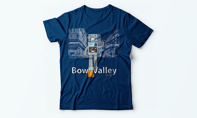 Bow Valley College shirt designed for staff