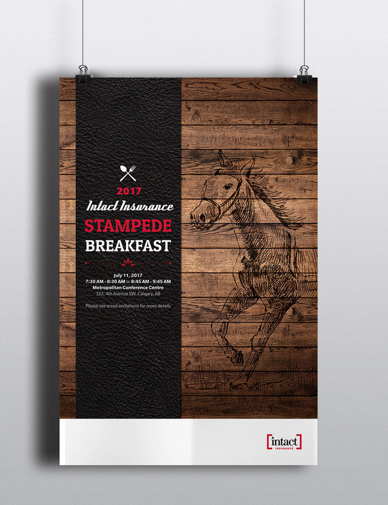Print poster design created for Intact Insurance in Calgary, Alberta.