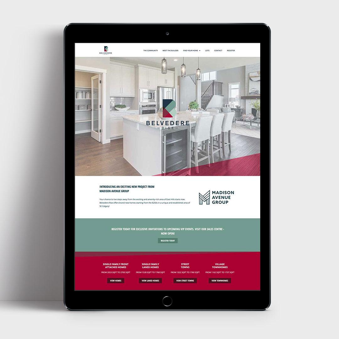 Belvedere Rise Website Design