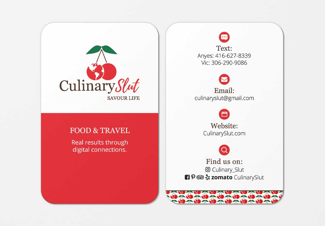 Culinary Slut, Business Card Design