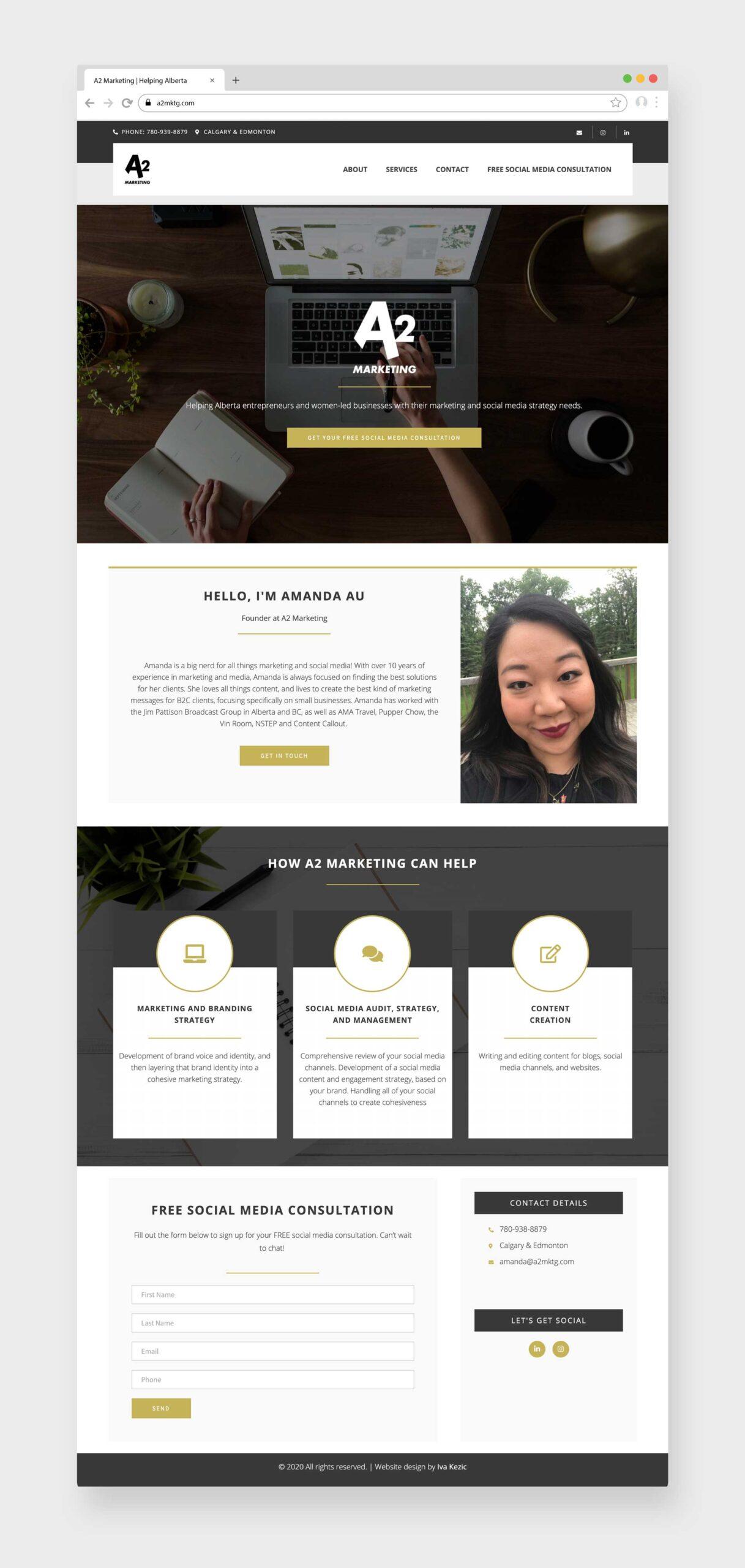 A2 Mareting, Custom Website Design