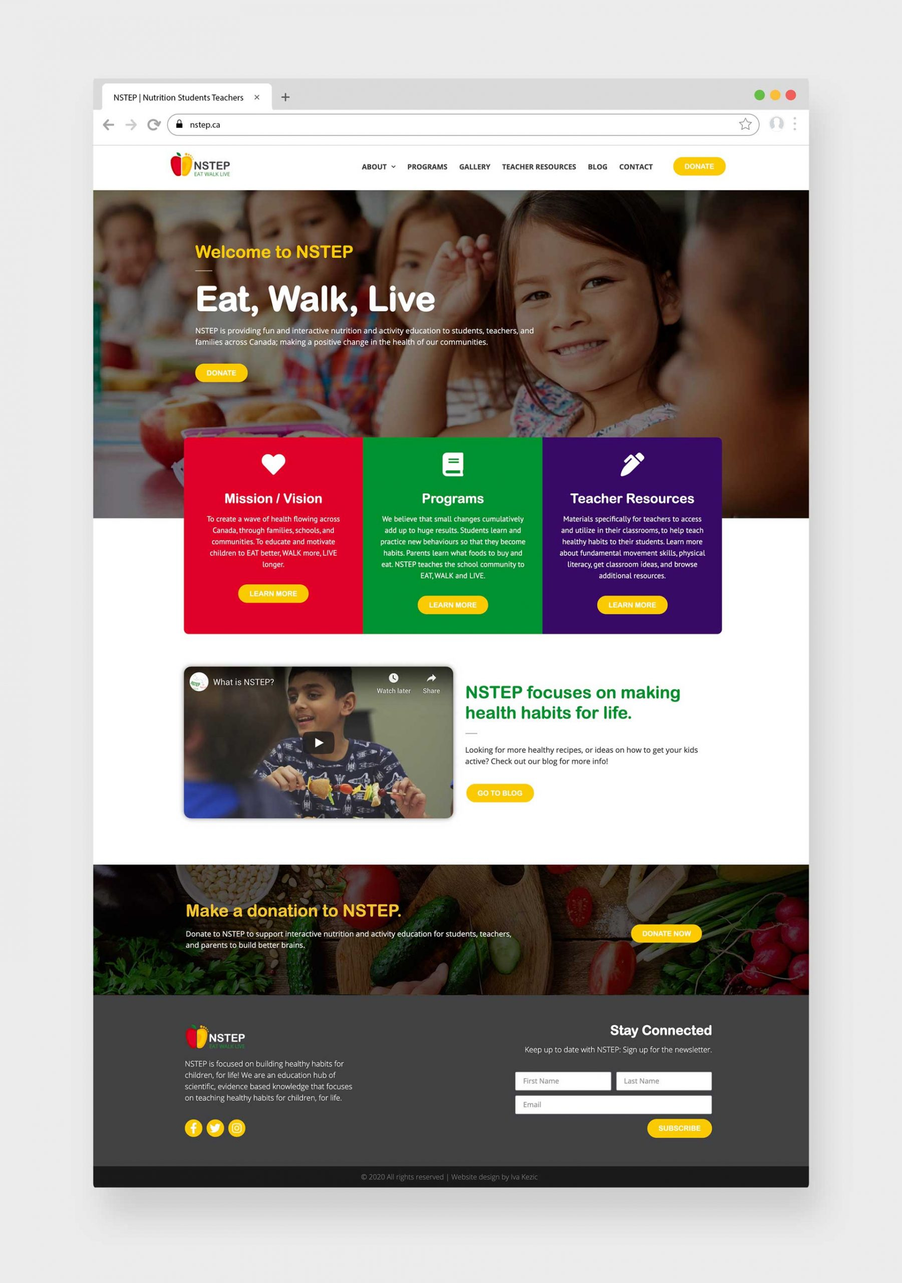 NSTEP Calgary Website Design